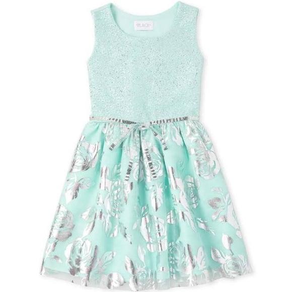 3T- Sleeveless Tutu Pleated Dress Blue …